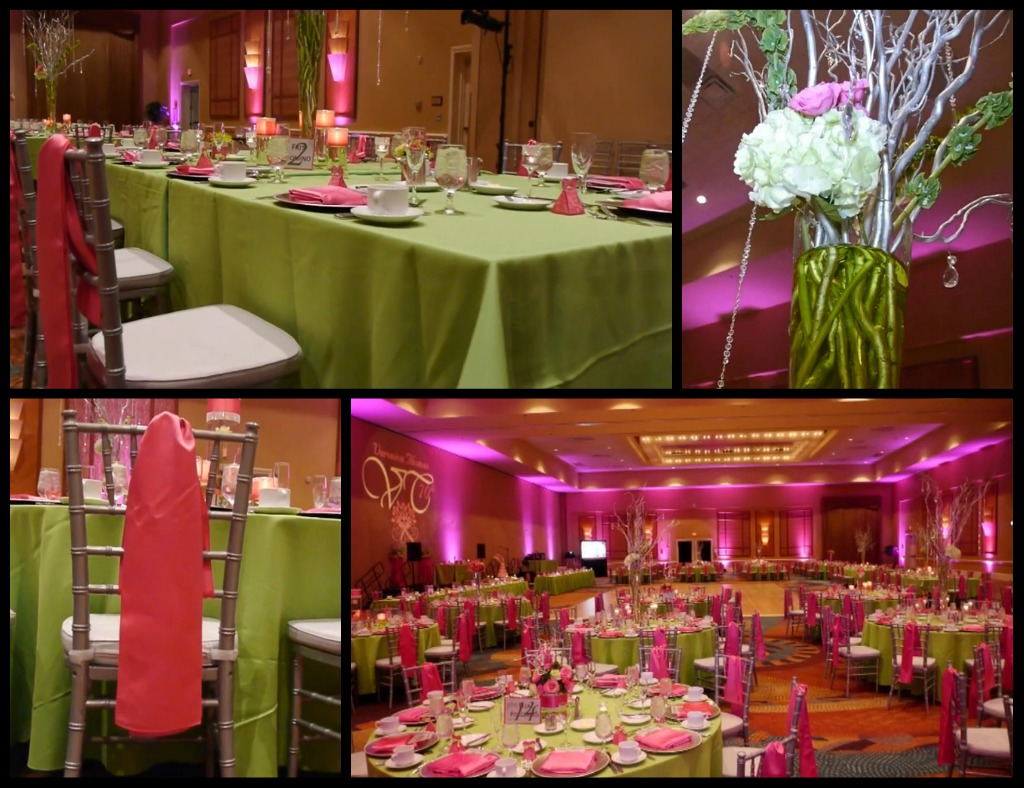 Pink And Lime Green Wedding Decorations Decoration For Home