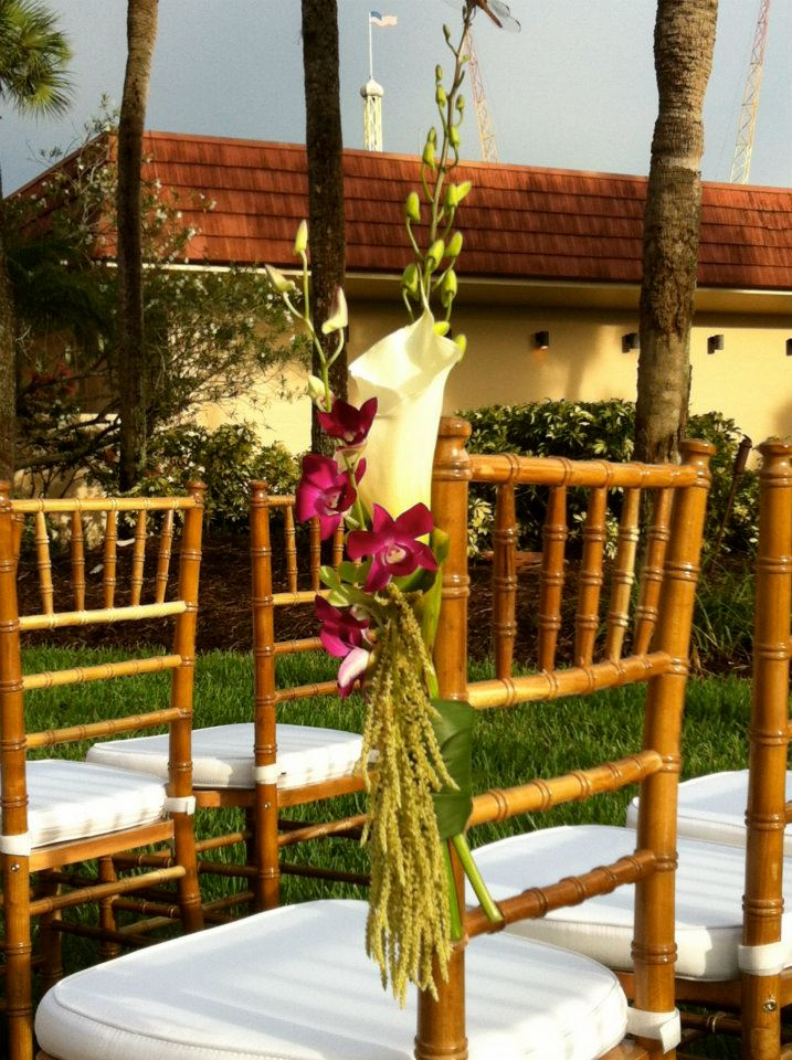 Simplistic Floral Accents Bamboo Chiavari Chairs Anna Christine Events