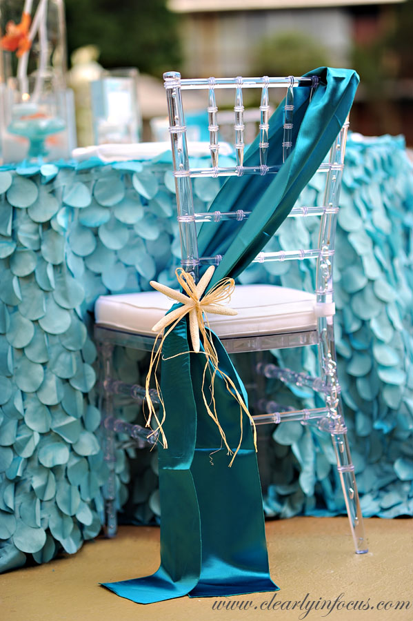 Teal sash accent Anna Christina Events A Chair Affair Blog