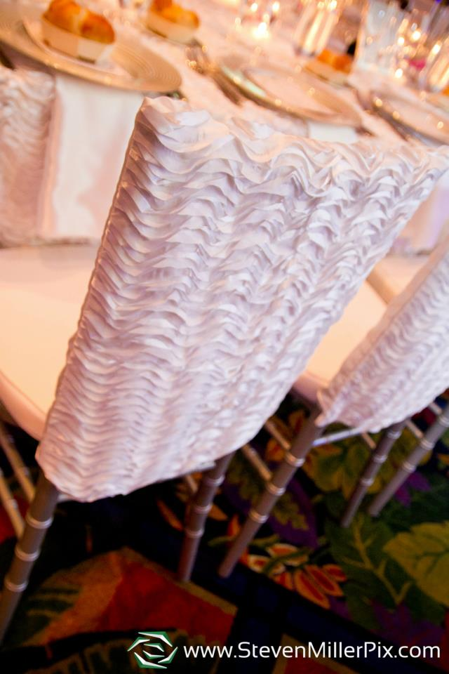 White Textured Toppers Over the Top Inc A Chair Affair Blog