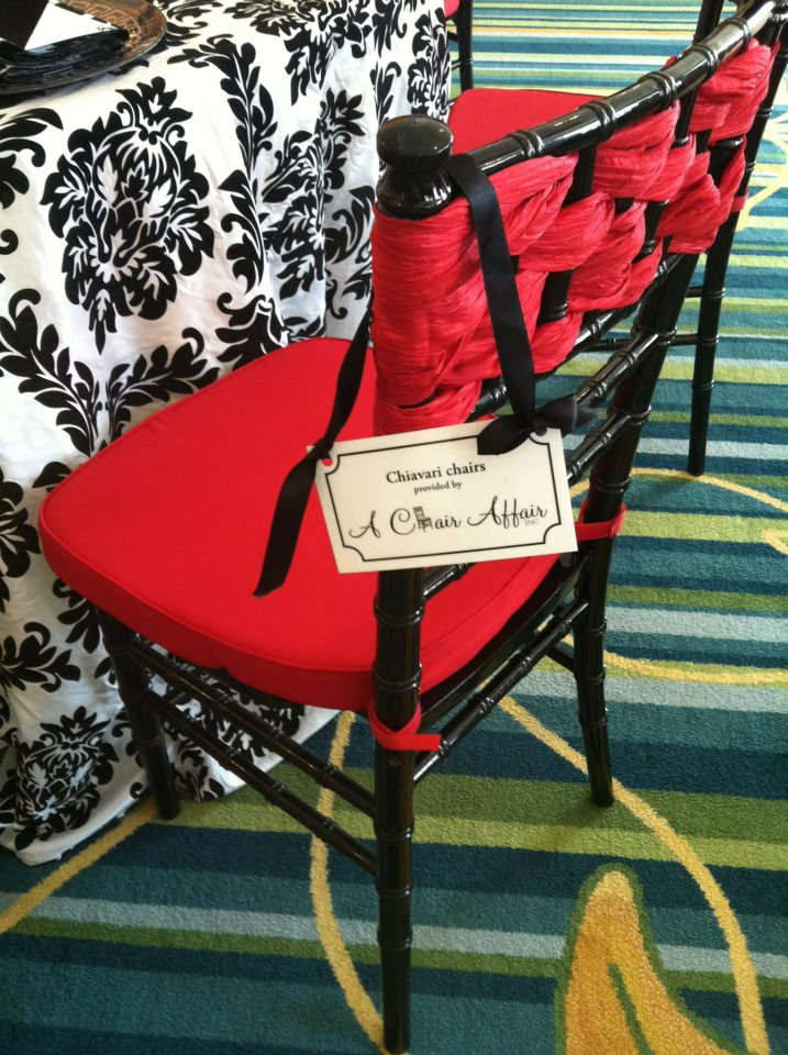 Red Woven chair sashes JEventsLLC.com A Chair Affair Blog