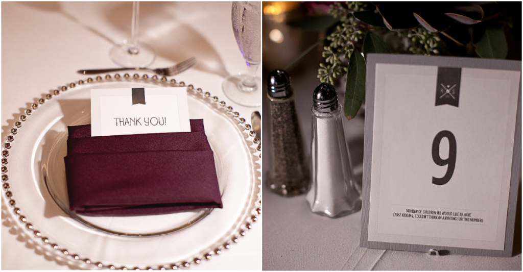 Orlando Weddings Thank you cards and table numbers A Chair Affair blog