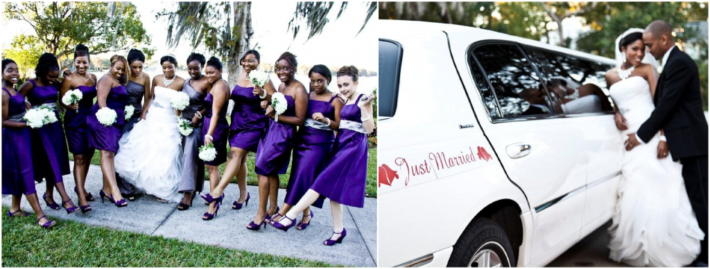 Polasek Museum and Sculpture Garden Purple bridesmaid dress Orlando weddings A Chair Affair blog
