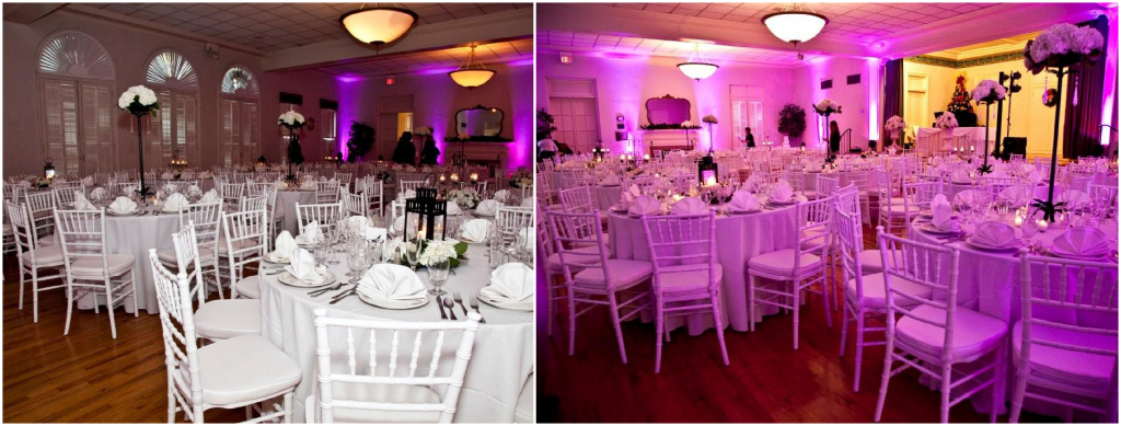 Womans Club of Winter Park White chiavari chairs Vintage vines A Chair Affair Blog
