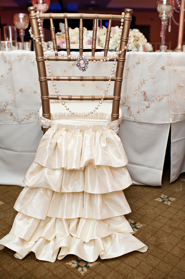 Chiavari Chair Trends Pearls and ruffles A Chair Affair