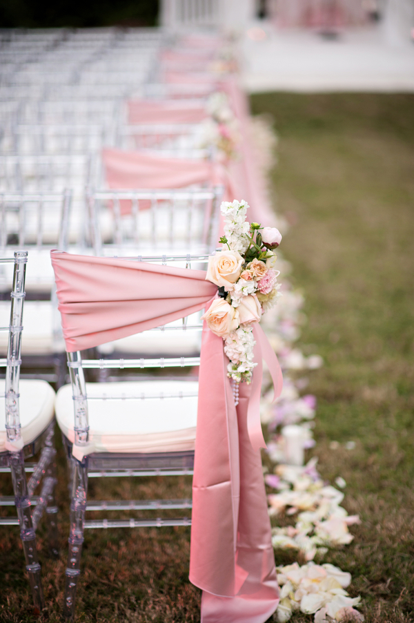 Chiavari Chair trends Sashes with floral A Chair Affair