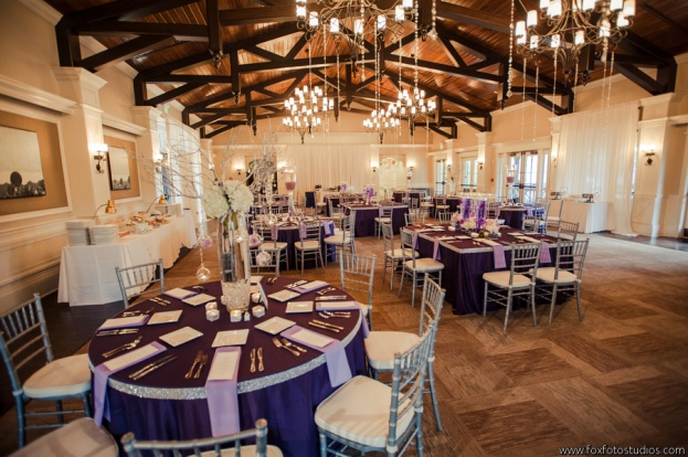 St Augustine Amphitheater Wedding Silver And Purple
