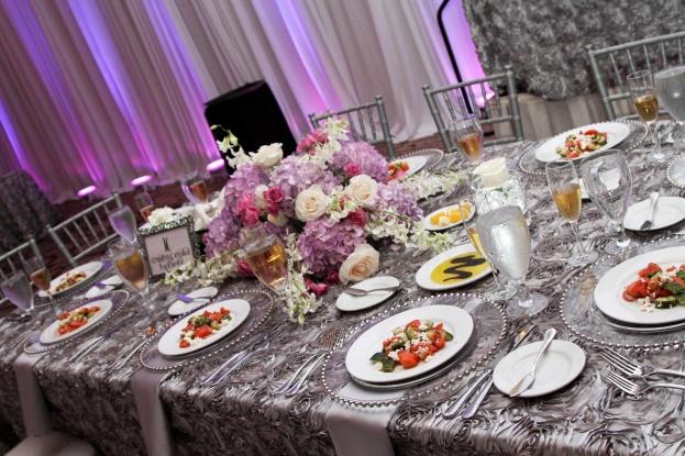 Silver and Purple Elegant Orlando Wedding