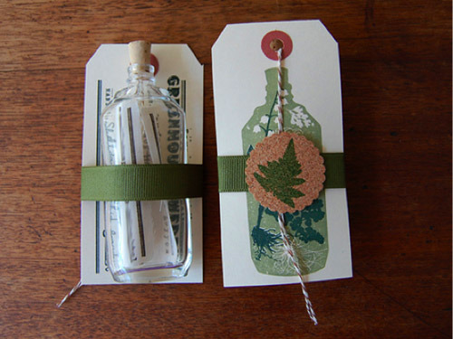Save the Date Ideas: Message in a Bottle
