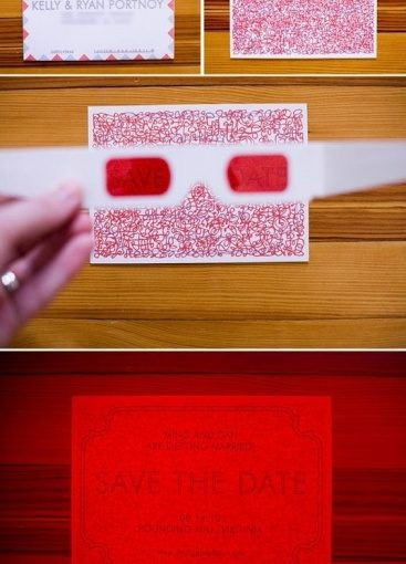 Save the Date Ideas: Eye-Glass Decoder Messages!