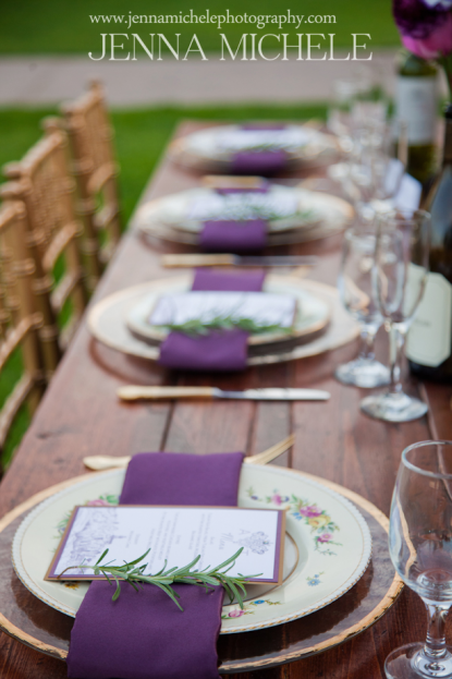 A Chair Affair Radiant Orchid weddings Jenna Michele Photography