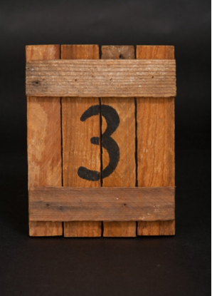 A Chair Affair, Wooden Table Number