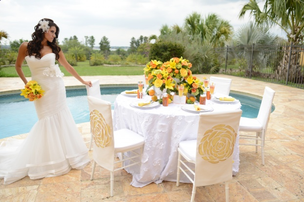 Garden Chateau, Citrus Wedding Inspiration