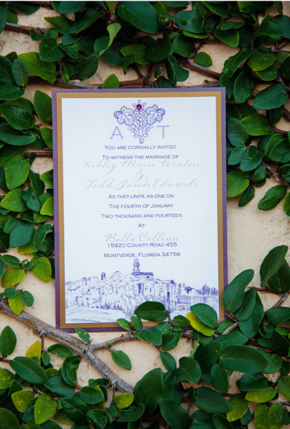 Jenna Michele Photography, Bella Collina, A Chair Affair, wedding invitation