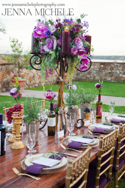 Radiant Orchid Tuscany Inspiration Bella Collina Weddings A Chair Affair