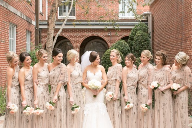 Amalie Orrange Photography_Orlando Museum of Art_A Chair Affair_bridal party laughing