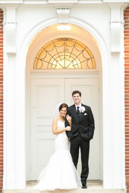 Amalie Orrange Photography_Orlando Museum of Art_A Chair Affair_shannon and luke in front of church
