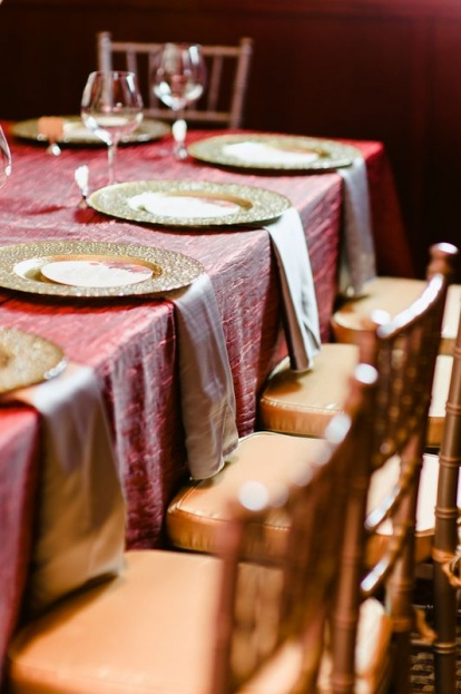 Errol Colon Photography, A Chair Affair Rentals, Flemings Winter Park, Red and Gold Scheme