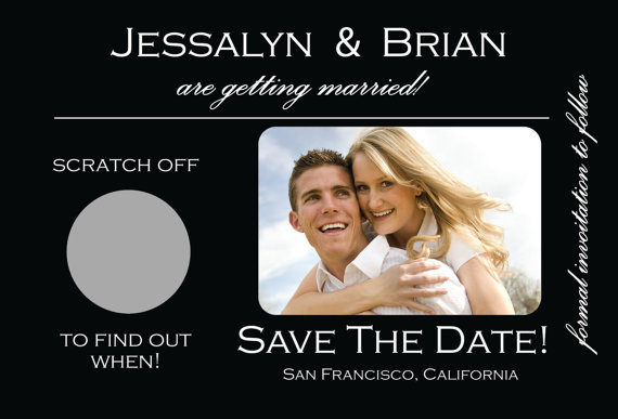 Save the Date Ideas: Scratch Off Cards
