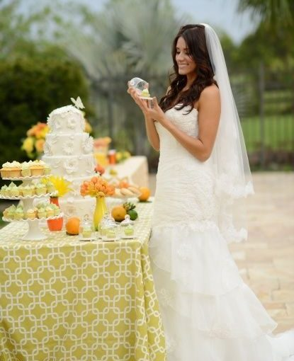 Citrus Wedding Inspiration Photo Shoot featured on Wedding Lovely