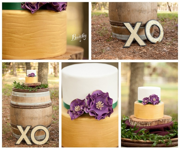 Bumby Photography-A Chair Affair-Wedding Cake Wooden Barrel-Rustic Glam Wedding Photo Shoot-Orlando Weddings