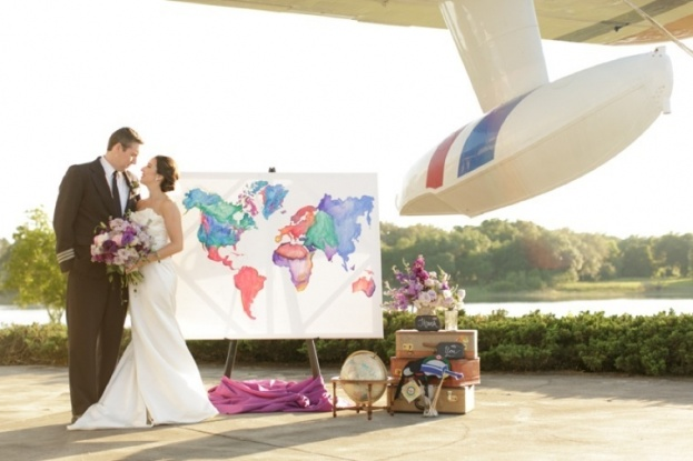 Travel Themed Wedding Shoot Featured on Every Last Detail