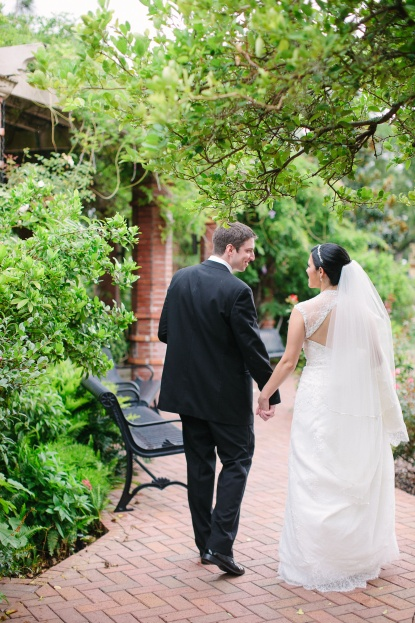 KT Crabb Photography, A Chair Affair, couple holding hands and walking, Orlando Wedding