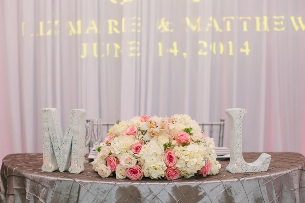 KT Crabb Photography, A Chair Affair, reception decor details on sweetheart table, Orlando Wedding