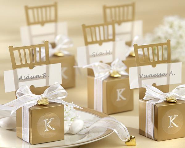 Wedding Gift Box Rental : chair affair, bellissimo favors, golden chair box favors
