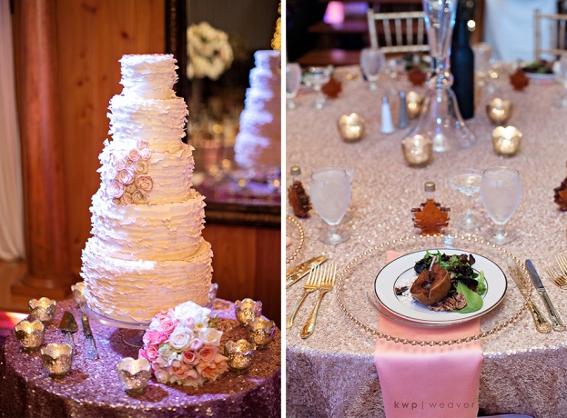 a chair affair, estate on the halifax, cake and table scape, orlando wedding