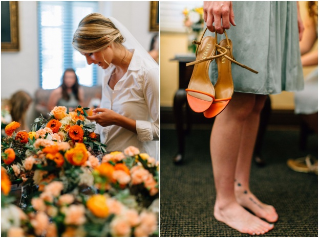 Bride and flowers, Bridesmaid shoes, The Woman's Club of Winter Park, Alison and Andrew, Shutterlife Productions, A Chair Affair event rentals