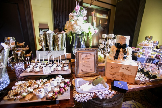 Black and white wedding, The Grand Bohemian Hotel, Castaldo Studios, Swanky I Do's, A Chair Affair Event Rentals, Sweet table