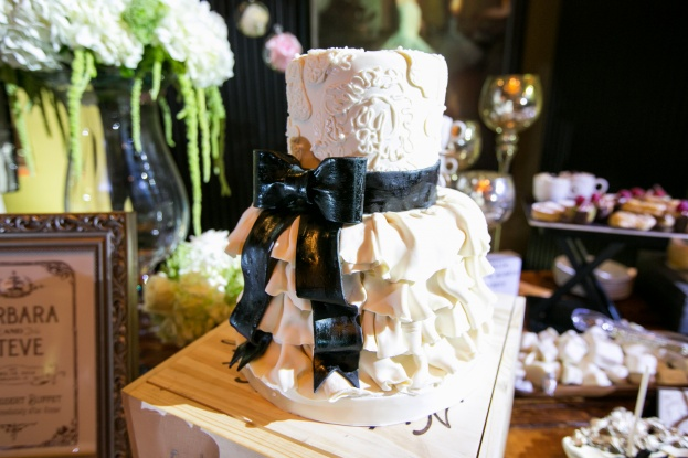 Black and white wedding, The Grand Bohemian Hotel, Castaldo Studios, Swanky I Do's, A Chair Affair Event Rentals, wedding cake