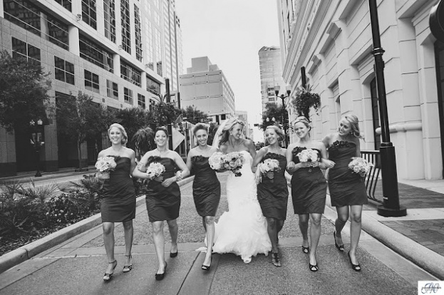 Chair Affair, Jennifer Werner Photography, Bridal party black and white