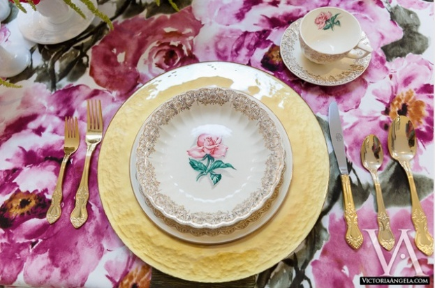 Gold Charger, Florida Federation of Garden Clubs, Garden Table Shoot, Victoria Angela Photography, A Chair Affair event rentals