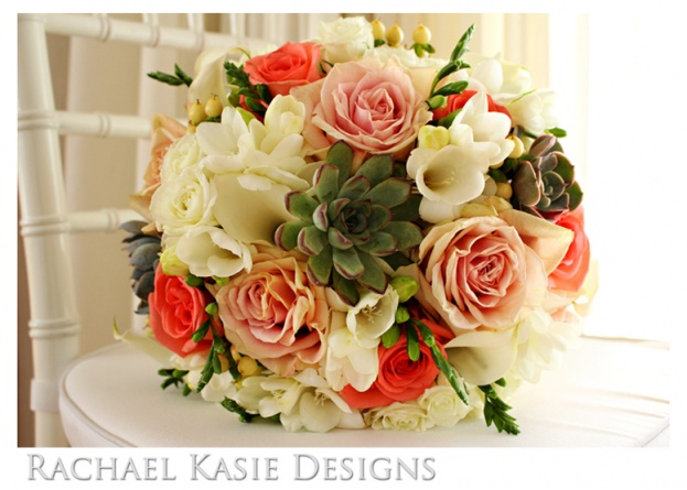Beach Wedding, Coral, grey, Shores Resort and Spa, Rachael Kasie Designs, A Chair Affair Event Rentals, bouquet