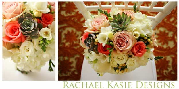 Beach Wedding, Coral, grey, Shores Resort and Spa, Rachael Kasie Designs, A Chair Affair Event Rentals, bouquets, white chiavari chairs