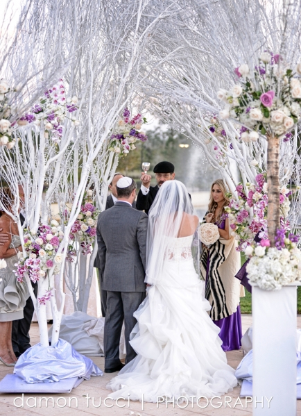 Ceremony, Silver and Purple Wedding, Orlando Weddings, Waldorf Orlando, Damon Tucci Photography, A Chair Affair Event Rentals