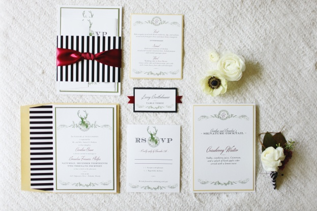Dogwood Blossom invitations, Vine and Light Photography, The Acre, Winter Styled Shoot, A Chair Affair Event Rentals
