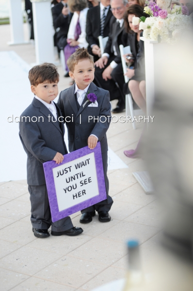 Silver and Purple Wedding, Ring Bearers, Orlando Weddings, Waldorf Orlando, Damon Tucci Photography, A Chair Affair Event Rentals