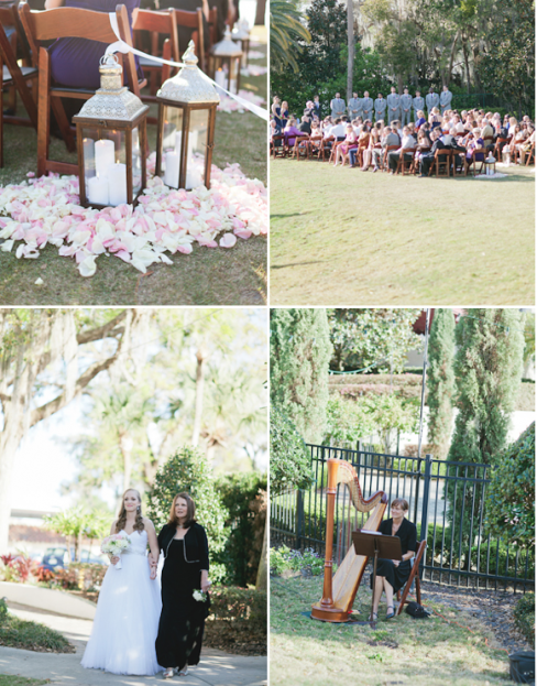 ceremony view, Winter Park Racquet Club, Emory and Jon wedding, A Chair Affair Event Rentals