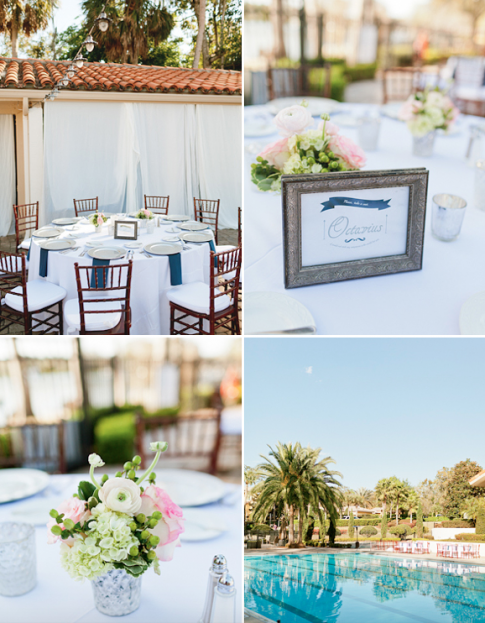 chiavari chairs, blue accents, Winter Park Racquet Club, Emory and Jon wedding, A Chair Affair Event Rentals