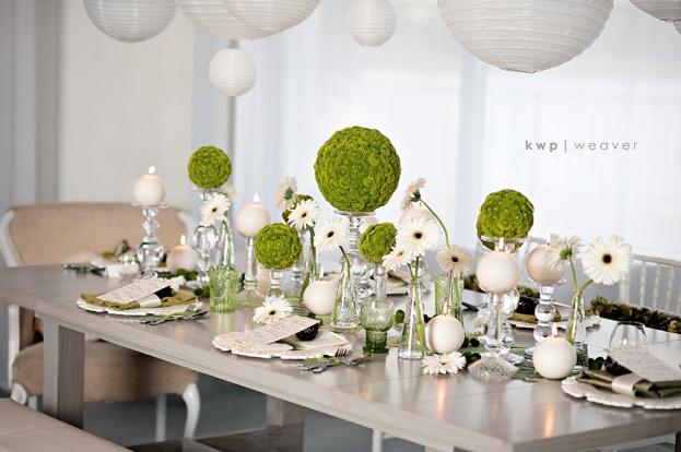 Heaven Event Center Modern Green And White Wedding