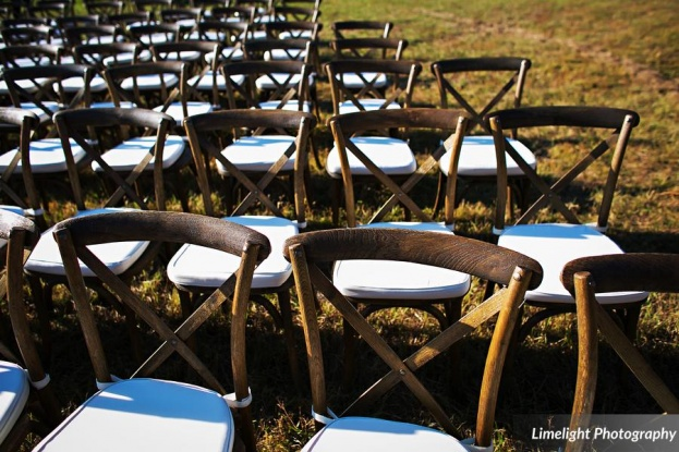 Ceremony French Country Chairs, Stephanie and Robby, Limelight Photography, Safari Wilderness Ranch, A Chair Affair, Orlando Chair Rentals
