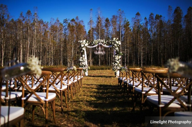 Ceremony, Stephanie and Robby, Limelight Photography, Safari Wilderness Ranch, A Chair Affair, Orlando Chair Rentals