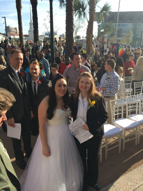 LGBT Newlyweds, Marriage Equality, City Hall, A Chair Affair Event Rentals