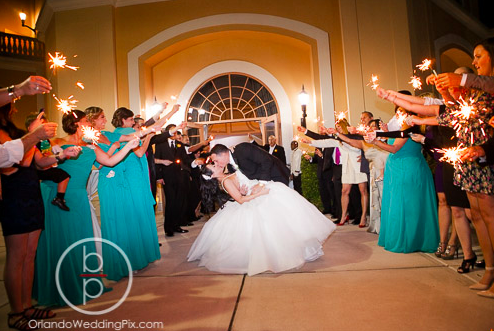Wedding Reception Sparklers, Orlando Wedding Pix, Rosen Shingle Creek Resort, A Chair Affair Event Rentals, Orlando Chair Rentals