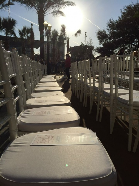 White Chiavari Chairs, City Hall, Marriage Equality, A Chair Affair Event Rentals