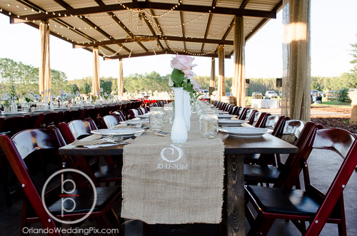Mahogany Resin Folding Chairs, Brian Pepper Photography, Isola Farms, A Chair Affair Wedding Rentals