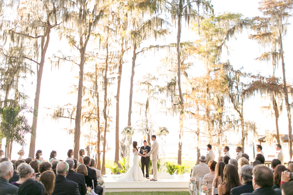 Mint Color Outdoor Ceremony Decorations: Private Residence: A Mint And Gold Wedding